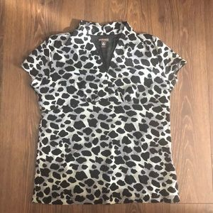 Dana Buchman animal print top